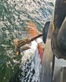 船的船锚 免版税库存图片