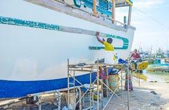 船的维修服务 免版税库存图片