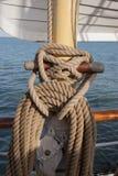 船的索具 免版税库存照片