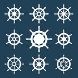 船舵被设置的传染媒介象 库存照片