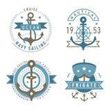 船舶商标模板集合 皇族释放例证