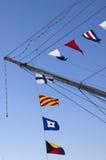 船舶字母表的标志 免版税库存图片