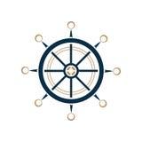 船舶方向盘传染媒介象 船舵 向量例证
