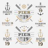 船舶标签船锚没有19集合01 库存照片