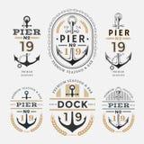 船舶标签船锚没有19集合02 免版税库存照片
