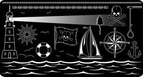 船舶的图标 库存照片