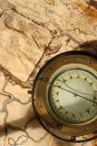 船舶的指南针 库存图片