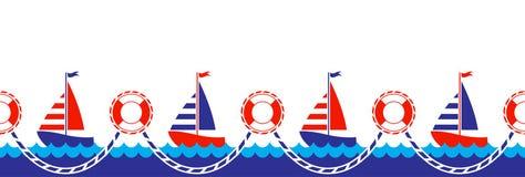 船舶的边界 库存例证