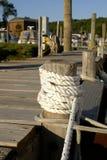船舶码头的线路 免版税库存图片