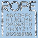 船舶绳索字体 向量例证