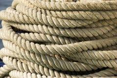 船舶绳索 免版税库存照片