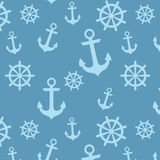 船舶船锚和轮子样式 库存照片