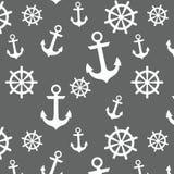 船舶船锚和轮子样式 免版税库存图片