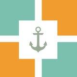 船舶船锚和轮子样式 免版税库存照片