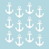 船舶船锚和轮子 库存图片