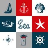 船舶主题的设计 库存图片
