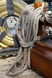 船舶绳索 库存图片
