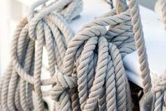 船舶绳索 免版税图库摄影