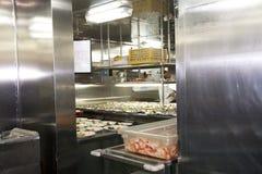 船船上厨房 图库摄影
