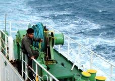 船船长 免版税库存照片