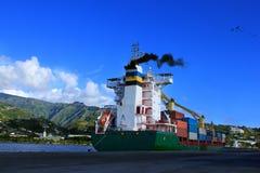 船设置风帆 图库摄影