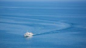 船跟踪 库存照片