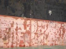 船身深度测量 库存图片