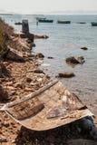 船遗骸在3月Menor 图库摄影