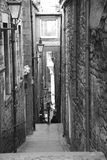 船锚关闭,爱丁堡 免版税库存照片