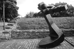 船锚在Culross 免版税库存图片