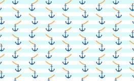 船锚无缝的样式背景 库存图片