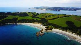 船锚海湾在新西兰 库存图片