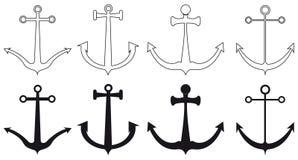 船锚的类型, 免版税库存图片