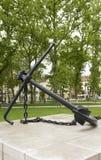 船锚纪念碑国会正方形公园卢布尔雅那斯洛文尼亚 库存照片