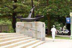 船锚,美国海军学校校园 免版税库存图片