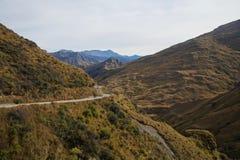 船长山谷路,昆斯敦,新西兰 图库摄影