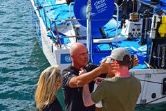 船长Bouwe Bekking队布鲁内尔富豪集团海洋种族2017年 库存图片
