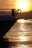 船首小的游艇 免版税库存照片