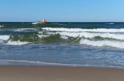 船,渔,海,波浪,渔,鱼,采矿,落后,巡洋舰 库存图片
