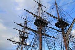船索具和帆柱 免版税图库摄影