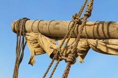 船围场、风帆和索具 免版税图库摄影