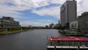 船&小船&风景沿中国无锡河 免版税库存照片