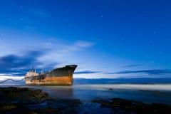 船击毁南非 免版税图库摄影