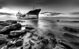 船击毁南非 图库摄影