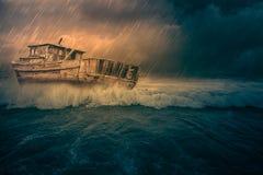 船击毁 库存照片