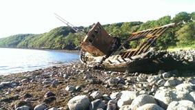 船击毁 库存图片