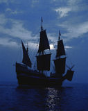 船Mayflower II的复制品 库存图片