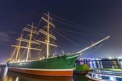船Rickmer Rickmers在汉堡 库存照片
