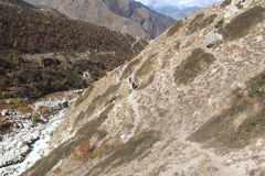 艰苦跋涉路线在印度3 库存照片