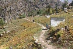 艰苦跋涉路线在印度4 免版税图库摄影